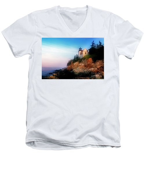 Lighthouse Sunrise Men's V-Neck T-Shirt