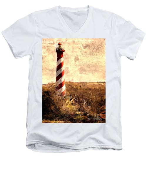 Lighthouse Westerlichttoren Men's V-Neck T-Shirt