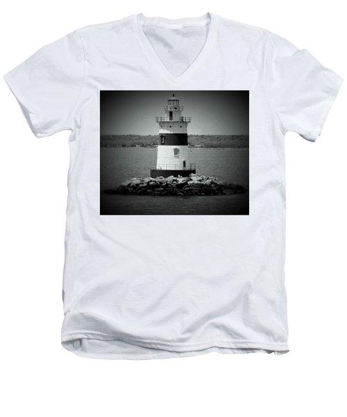 Lights Out-bw Men's V-Neck T-Shirt
