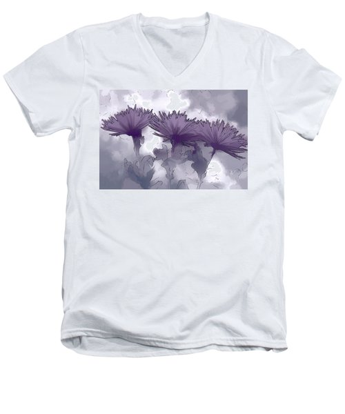 Lilac Fancy Men's V-Neck T-Shirt