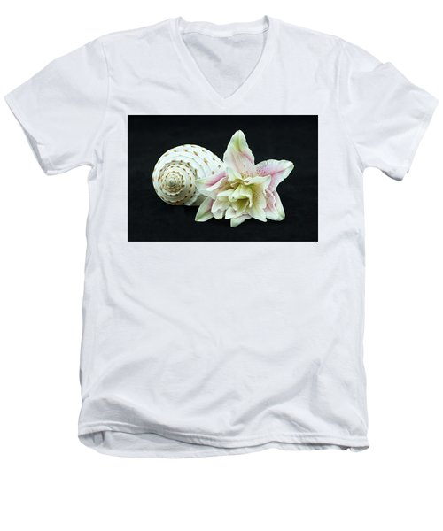 Lily And Shell Men's V-Neck T-Shirt