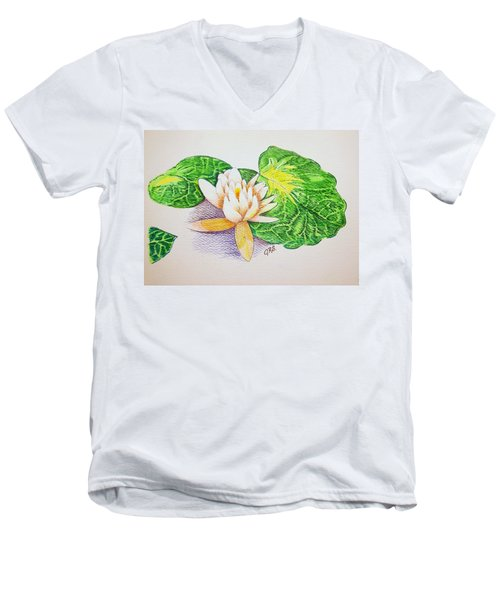 Lily Pad Men's V-Neck T-Shirt by J R Seymour