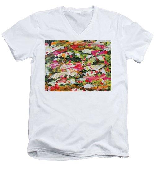 Lily Pads Men's V-Neck T-Shirt