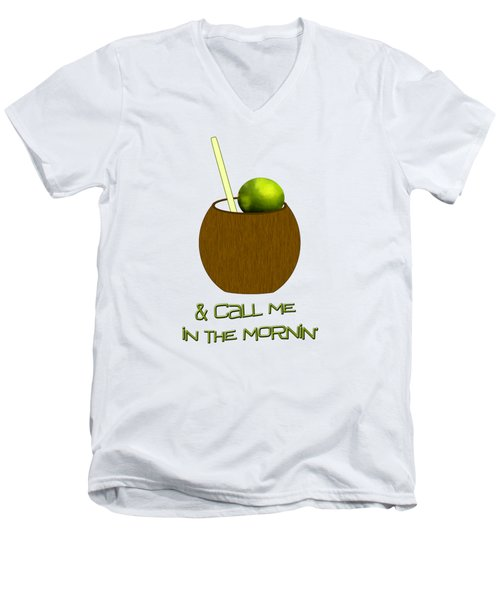 Lime In The Coconut Men's V-Neck T-Shirt by Methune Hively