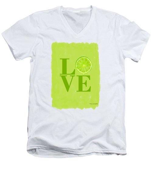 Lime Men's V-Neck T-Shirt by Mark Rogan