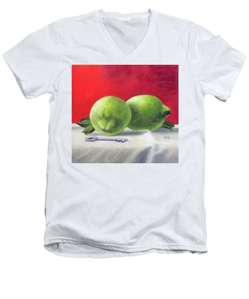 Limes Men's V-Neck T-Shirt by Tim Johnson