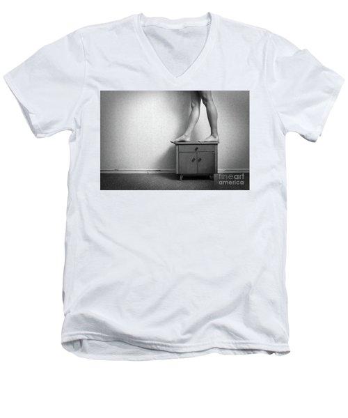 Lines #7054 Men's V-Neck T-Shirt