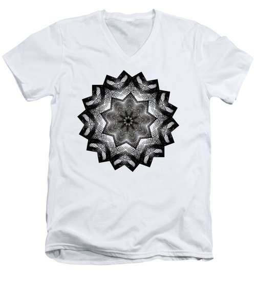 Lines In A Star By Kaye Menner Men's V-Neck T-Shirt