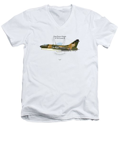Ling-temco-vaught A-7d Corsair Men's V-Neck T-Shirt by Arthur Eggers