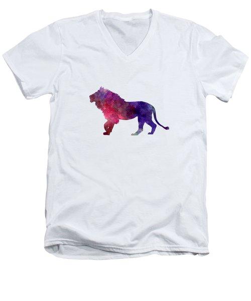Lion 01 In Watercolor Men's V-Neck T-Shirt