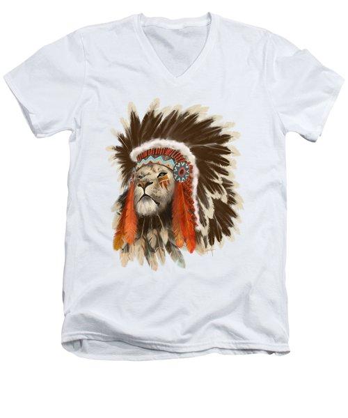 Lion Chief Men's V-Neck T-Shirt