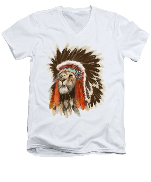Lion Chief Men's V-Neck T-Shirt