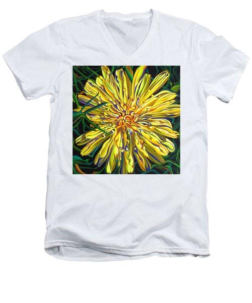 Lion In The Grass Men's V-Neck T-Shirt