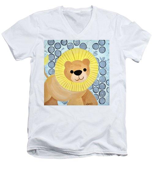 The Blessing Of The Lion Men's V-Neck T-Shirt