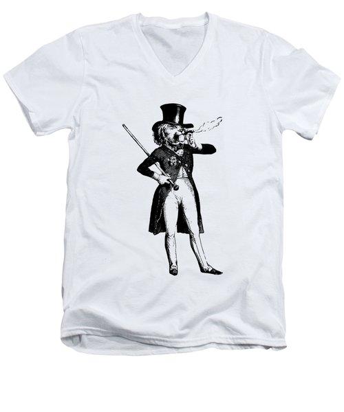 Lion King Grandville Transparent Background Men's V-Neck T-Shirt