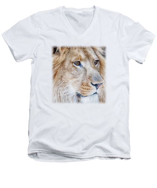 Lion T-shirt V1 Men's V-Neck T-Shirt