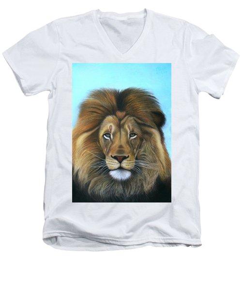 Lion - The Majesty Men's V-Neck T-Shirt
