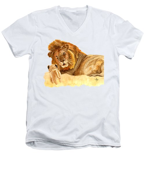 Lions Men's V-Neck T-Shirt