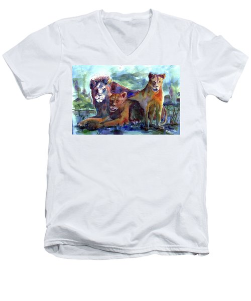 Lion's Play Men's V-Neck T-Shirt