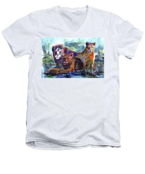 Lion's Play Men's V-Neck T-Shirt