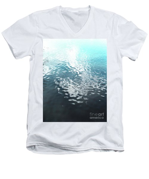 Men's V-Neck T-Shirt featuring the photograph Liquid Blue by Rebecca Harman