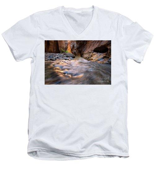 Liquid Gold Utah Adventure Landscape Photography By Kaylyn Franks Men's V-Neck T-Shirt