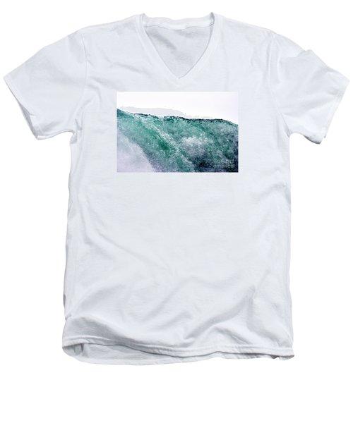 Men's V-Neck T-Shirt featuring the photograph Liquid Horizon by Dana DiPasquale