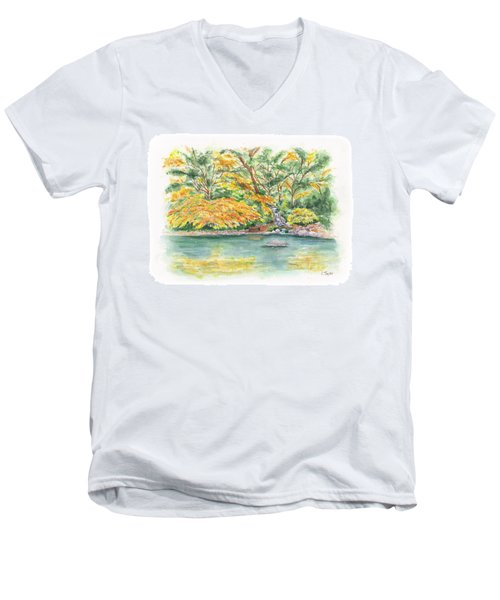 Lithia Park Reflections Men's V-Neck T-Shirt