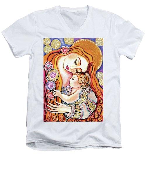 Little Angel Sleeping Men's V-Neck T-Shirt