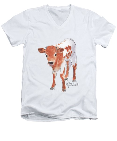 Little Beau April 2017 By Kathleen Mcelwaine Men's V-Neck T-Shirt