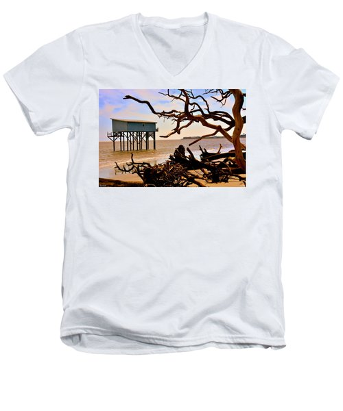Little Blue Hunting Island State Park Beaufort Sc Men's V-Neck T-Shirt