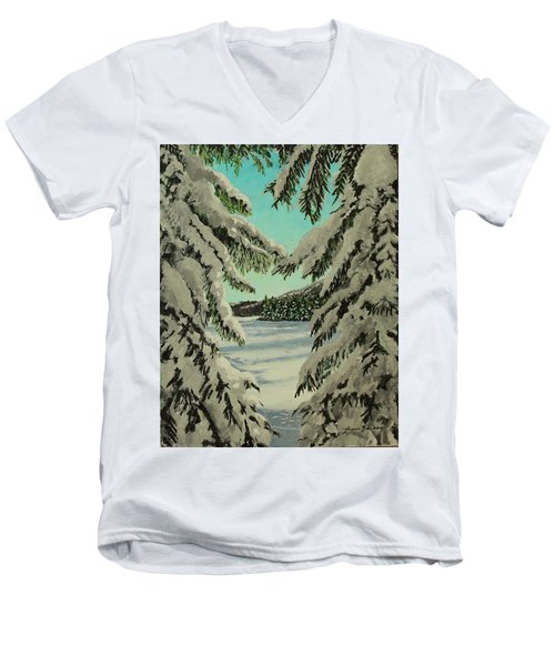 Little Brook Cove Men's V-Neck T-Shirt