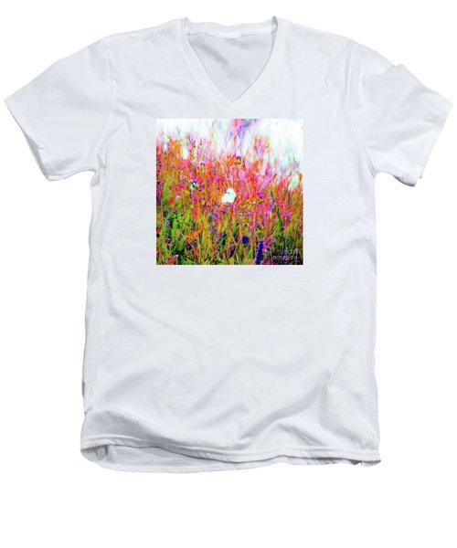 Little Butterfly Fly Men's V-Neck T-Shirt