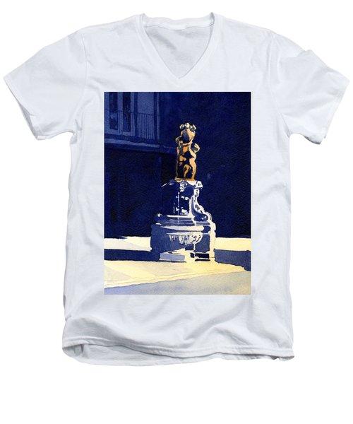 Little Fountain Men's V-Neck T-Shirt