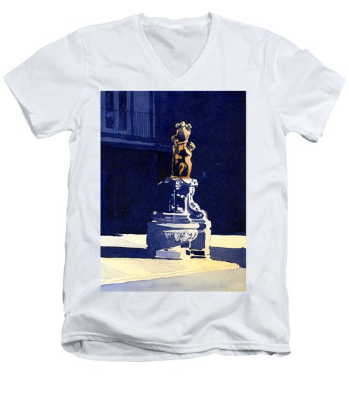 Little Fountain Men's V-Neck T-Shirt