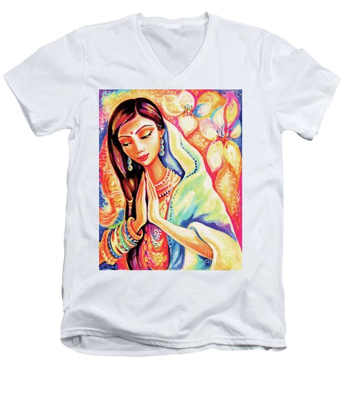 Little Himalayan Pray Men's V-Neck T-Shirt