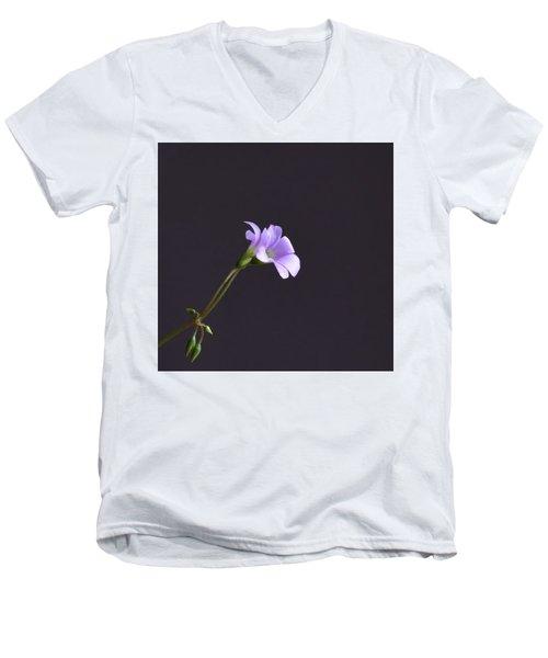 Little Lavender Flowers Men's V-Neck T-Shirt by Kathy Eickenberg