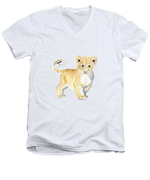 Little Lion Men's V-Neck T-Shirt