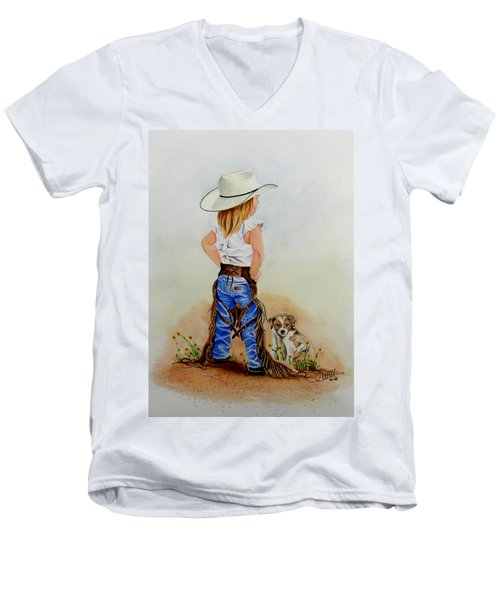 Little Miss Big Britches Men's V-Neck T-Shirt
