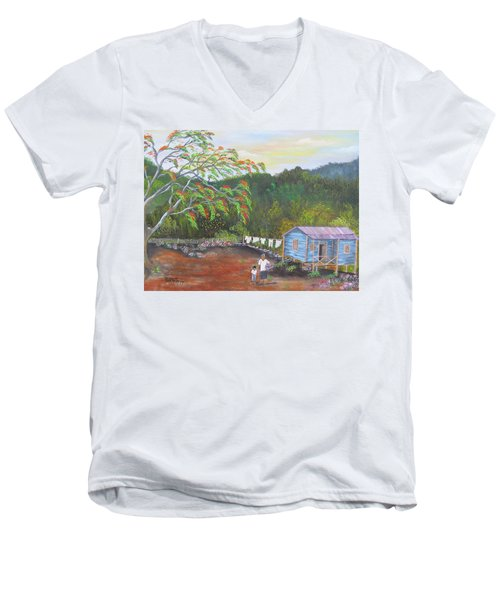 Little Paradise Men's V-Neck T-Shirt