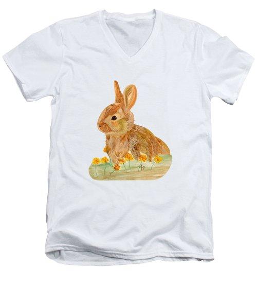 Little Rabbit Men's V-Neck T-Shirt