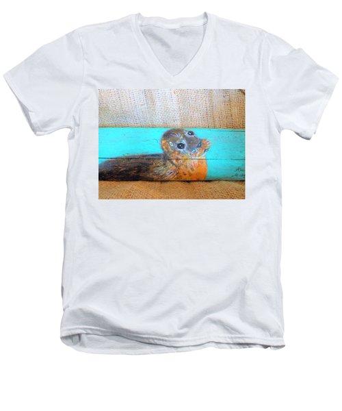 Little Seal Men's V-Neck T-Shirt by Ann Michelle Swadener