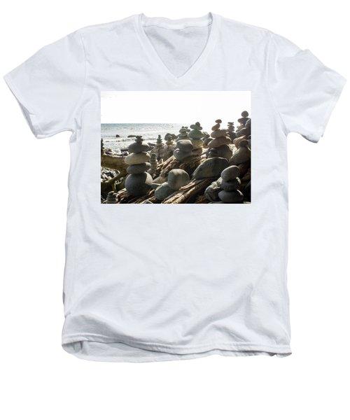Little Stone Sculptures Men's V-Neck T-Shirt