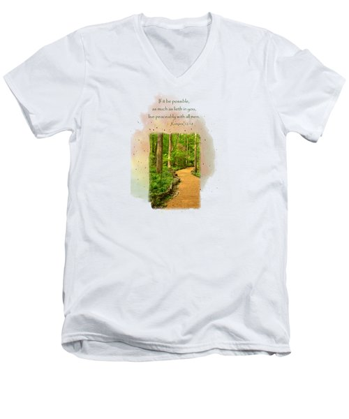 Live In Peace Men's V-Neck T-Shirt