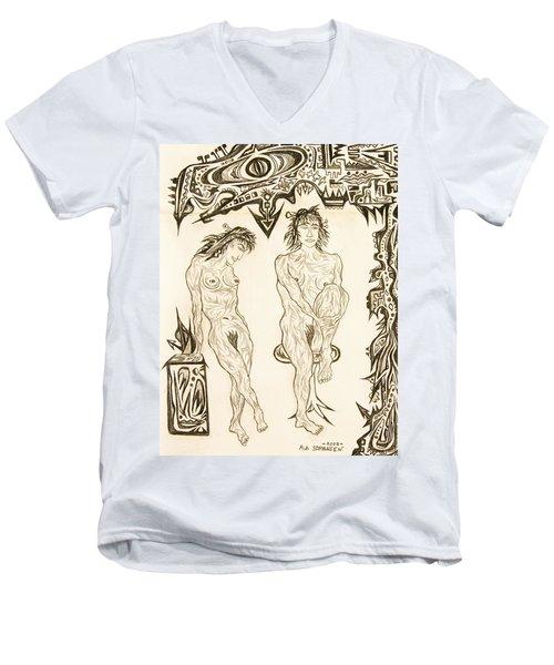 Live Nude 10 Female Men's V-Neck T-Shirt