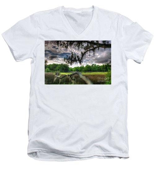 Live Oak Marsh View Men's V-Neck T-Shirt