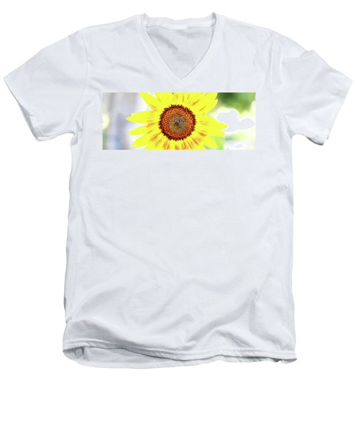 Live Simply Bloom Wildly Men's V-Neck T-Shirt