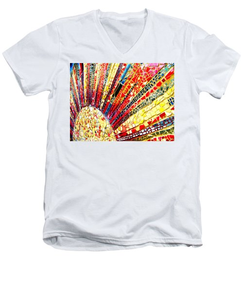 Living Edgewater Mosaic Men's V-Neck T-Shirt