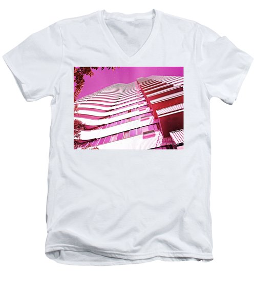 Living Pink Men's V-Neck T-Shirt