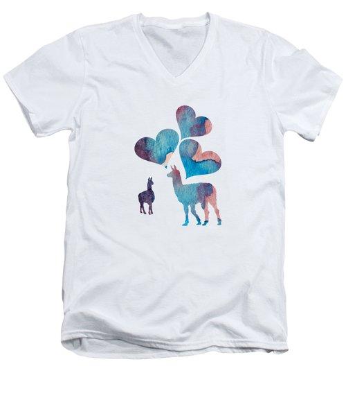 Llama Art Men's V-Neck T-Shirt